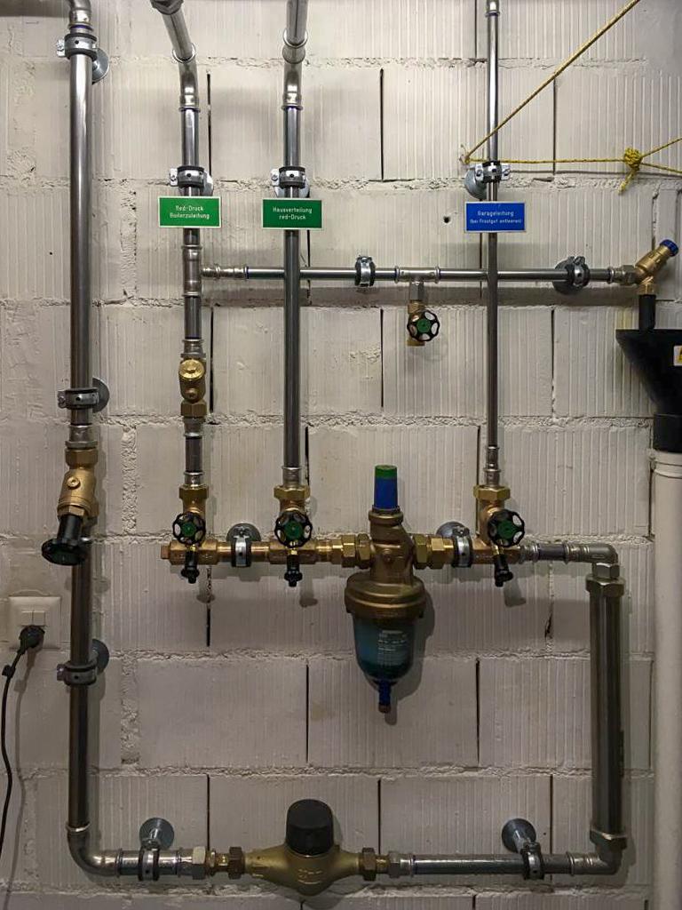 Neu erstellte Wasserverteilung EFH